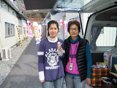 Komam Doll was gifted at Rikuzentakata city