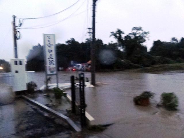 台風18号水害当日の写真